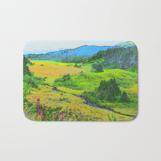 Alaska's Kenai Peninsula - Watercolor Bath Mat