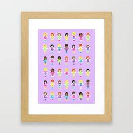 Polly Pocket Framed Art Print