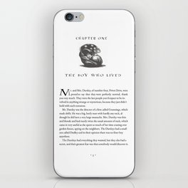 Sorcerer's Stone Chapter One Page One iPhone Skin