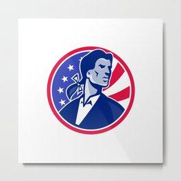 American Patriot Minuteman Stars Stripes Flag Metal Print