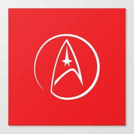 Heathen Trekkie - StarTrek 's Uhura Red Canvas Print