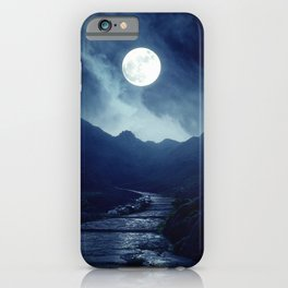 Walk to the Moon iPhone Case