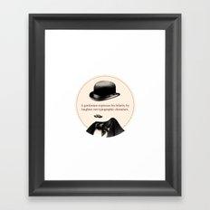 What gentlemen shall do - III Framed Art Print