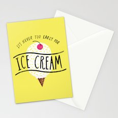 Never too Early for Ice Cream Stationery Cards