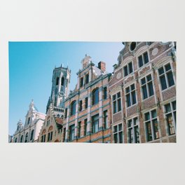 Buildings of Bruges Rug