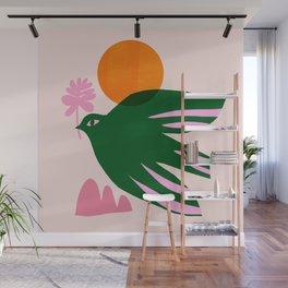 Abstraction_BIRD_SUN_Beautiful_Day_Minimalism_001 Wall Mural