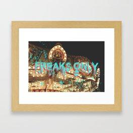 CARNIE FREAK Framed Art Print