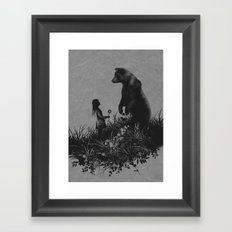 The Bear Encounter Framed Art Print