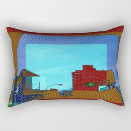 iron clad in color Rectangular Pillow