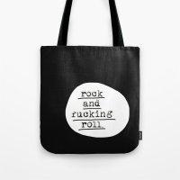 rocky Tote Bags featuring ROCKY by LAUREN WALKER