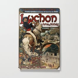 Vintage poster - Luchon Metal Print
