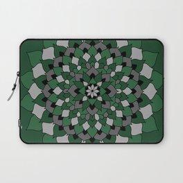 Green & Silver Floral Mandala Laptop Sleeve
