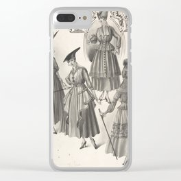 Designs for Four Women's Dresses with Full Skirts Attributed to A. Foa Clear iPhone Case