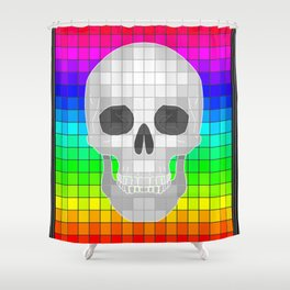 Ranbow Skull Shower Curtain