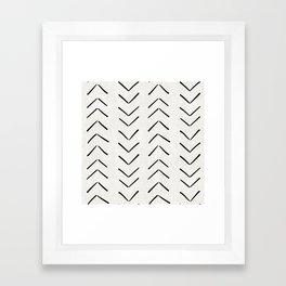 Mud Cloth Big Arrows in Cream Framed Art Print