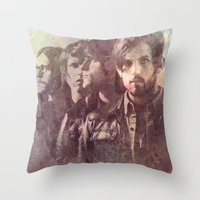 coldplay Throw Pillows featuring kings of leon by Nechifor Ionut