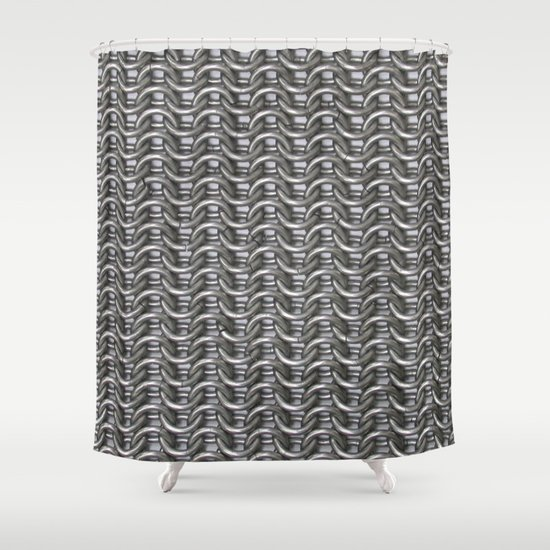 Chain Mail Shower Curtain By Isasaldanha