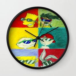 90s Cool Kids Wall Clock