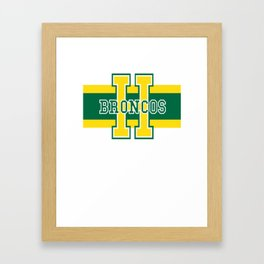 Humboldt Broncos Framed Art Print