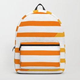 Beach Stripes Orange Yellow Backpack
