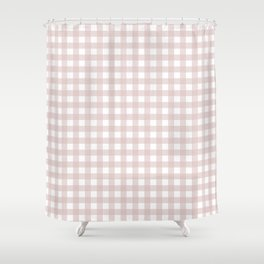Dusty Pink gingham Shower Curtain