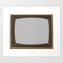 TV White Noise Frame Art Print