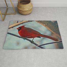 Pretty Male Cardinal Rug
