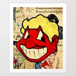 RED MAN Art Print