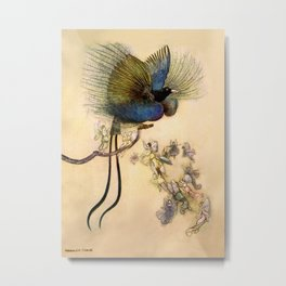 """The Beautiful Bird of Paradise"" Art by Warwick Goble Metal Print"