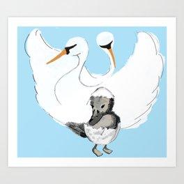 2 Swans Art Print