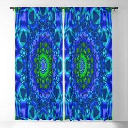 green blue kaleidoscope Blackout Curtain