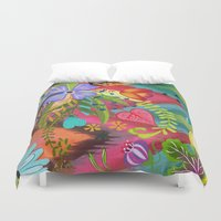 into the wild Duvet Covers featuring Wild by Kacy Latham