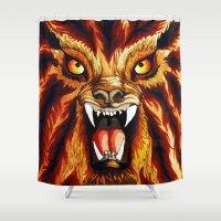 werewolf Shower Curtains featuring Werewolf by BluedarkArt