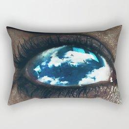Ojos color cielo Rectangular Pillow
