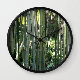 Bamboo zen calm Wall Clock