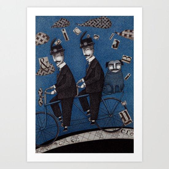 Two Men Travelling Art Print