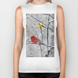 Goldfinch and Cardinal Biker Tank