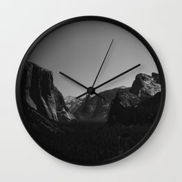 Tunnel View, Yosemite National Park Wall Clock