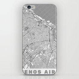 Buenos Aires Map Line iPhone Skin