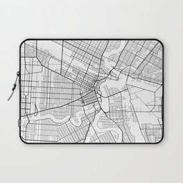 Winnipeg Map, Canada - Black and White Laptop Sleeve