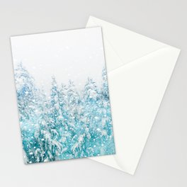 Snowy Pines Stationery Cards