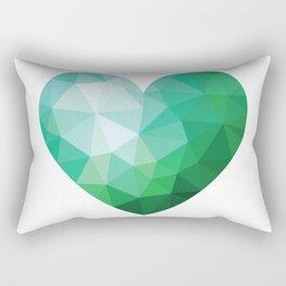 Teal Broken Heart Rectangular Pillow