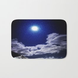 Signs in the Sky Collection I- in its original deep blue Bath Mat
