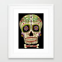 mexican Framed Art Prints featuring Mexican Skull !!! by Adrian Filmore