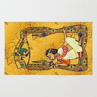 egyptian Area & Throw Rugs featuring Egyptian Fusion by BohemianBound
