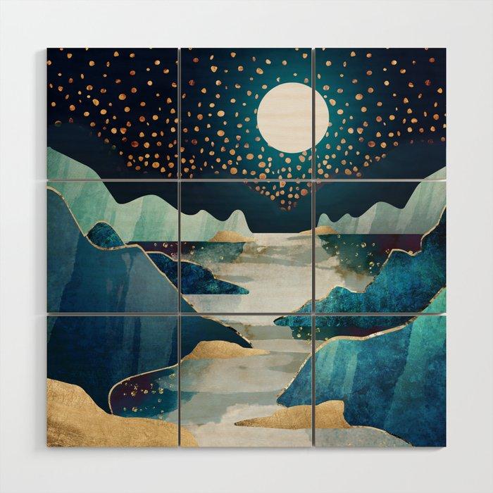 Moon Glow Wood Wall Art