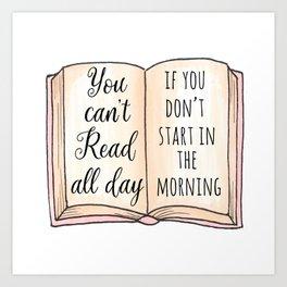 Read all day Art Print