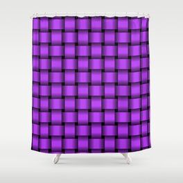 Light Violet Weave Shower Curtain