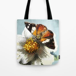 Butterfly on flower 12 Tote Bag