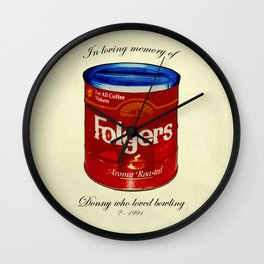 In Loving Memory of Donny Who Loved Bowling Wall Clock